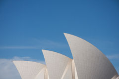 Sydney julho 2009: Forma do telhado do teatro da ópera o marco o Fotografia de Stock