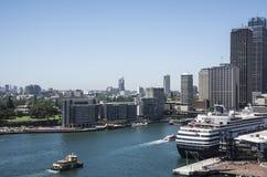Sydney, Kółkowy Quay Obrazy Royalty Free