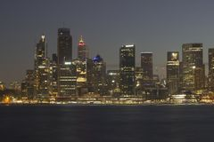 Sydney la nuit photographie stock