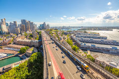 Sydney-Landstraße und -U-Bahn Lizenzfreies Stockfoto