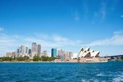 Sydney linia horyzontu od habor Obraz Royalty Free