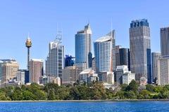 Sydney linia horyzontu w Australia centrum finansowym Obrazy Stock