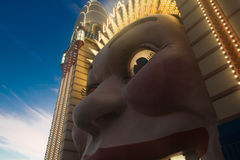 Sydney Luna Park. Clown entry with lights on Royalty Free Stock Photo