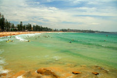 Männlicher Strand in Sydney Stockbild