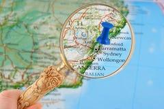 Sydney map tack Stock Image