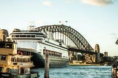 Sydney marina bridge Stock Images