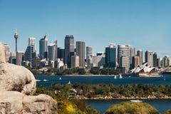 Sydney miasta schronienie i linia horyzontu Obraz Royalty Free