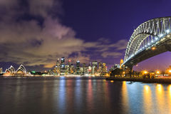 Sydney Milsons City Landmarks Dark Royalty Free Stock Photography