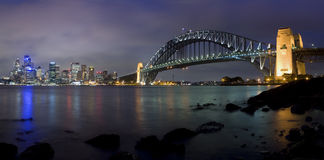 Sydney milsons night pan 24 Royalty Free Stock Photography