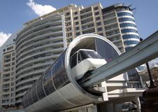 Sydney Monorail. Monorail station in CBD, Sydney Royalty Free Stock Photos