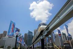 Sydney Monorail Royaltyfri Foto