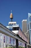 Sydney Monorail Fotografering för Bildbyråer