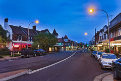 Sydney Mosman Street Along Sunset Stock Photography