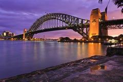Sydney mosta Milsons strony kałuża obraz stock