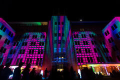 Sydney Museum of Contemporary Arts during Vivid festival 2014 Stock Photography