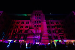 Sydney Museum of Contemporary Arts during Vivid festival 2014 Royalty Free Stock Photo