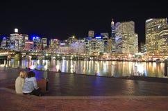 Sydney na noite fotografia de stock royalty free