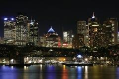 Sydney na noite imagens de stock royalty free