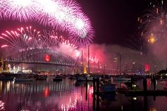Sydney New Year's Eve Royalty Free Stock Photo