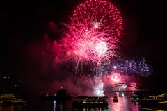 Sydney New Year's Eve 2015 fireworks Stock Photos
