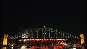 Sydney New Years Eve Fireworks 01 almacen de metraje de vídeo