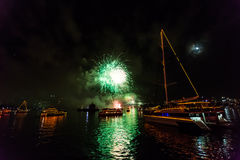 Sydney New Years Feuerwerke Eves 2015 Lizenzfreies Stockfoto