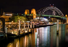 Sydney By Night. Sydney Harbour Bridge at Night Taken from Circular Quay Royalty Free Stock Photography
