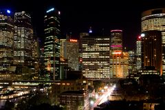 Sydney Night Royalty Free Stock Images