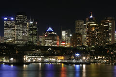 Sydney At Night. Sydney City At Night, Australia Royalty Free Stock Images