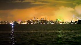 Sydney Night Boat stock footage