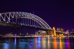 Sydney night cityscape view Stock Images