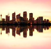 Sydney night skyline, Australia Stock Photo