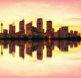 Sydney night skyline, Australia royalty free stock photography