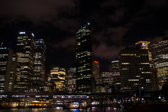 Sydney by night stock image