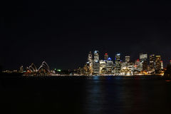 Sydney nightlife opera house Royalty Free Stock Photo