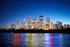 Sydney at nite royalty free stock photos