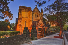 Sydney North Church Sunset Royalty Free Stock Image