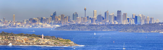Sydney North Head Day 300 panorama Royalty Free Stock Photos