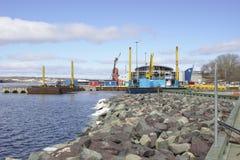 Sydney Novia Scotia Harbor 2564 royaltyfri bild