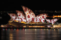 Sydney Opera House during Vivid Sydney festival Stock Images