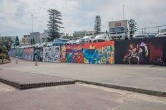 Bondi Beach Mural Wall stock photo