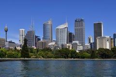 Australia, NSW, Sydney skyline from Farm Cove Royalty Free Stock Photos