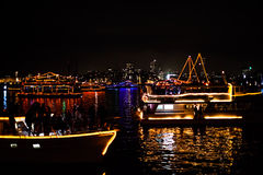 Sydney NYE 2015 Boats Parade Royalty Free Stock Image