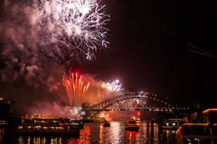 Sydney NYE 2015 fajerwerki Fotografia Royalty Free