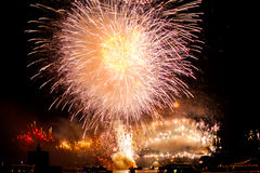 Sydney NYE 2015 Feuerwerke Stockfotos