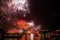 Sydney NYE 2015 fuegos artificiales Fotografía de archivo libre de regalías
