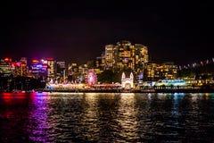 Sydney NYE parka rozrywki 2015 przyjęcie Obraz Royalty Free