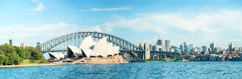 SYDNEY - OCTOBER 23, 2015: Beautiful panoramic view of city harb Royalty Free Stock Images