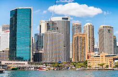 SYDNEY - OCTOBER 2015: Buildings of Sydney Harbour. Sydney attra Royalty Free Stock Images