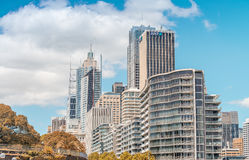 SYDNEY - OCTOBER 2015: Buildings of Sydney Harbour. Sydney attra Royalty Free Stock Photos